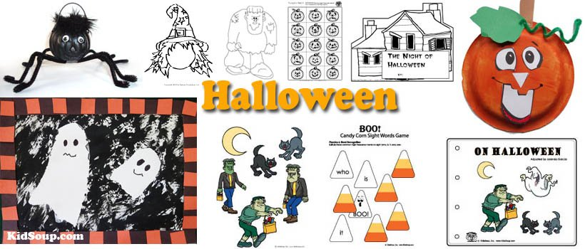 Halloween Crafts, Activities, Games for preschool and kindergarten