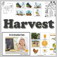 Preschool Kindergarten Harvest and Farm Activities and Lessons