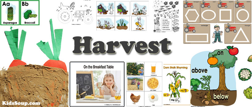 Harvest and Farm activities and games for preschool and kindergarten