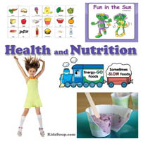 Preschool, Kindergarten Health and Nutrition Activities and Book