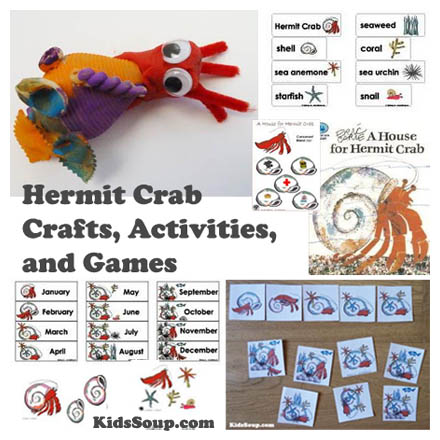 a house for hermit crab writing activity for 1st