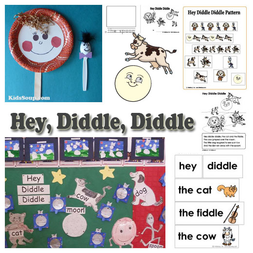 Hey Diddle Nursery Rhyme craft and activities for preschool