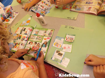 all about me and I like collage activity for preschool and kindergarten