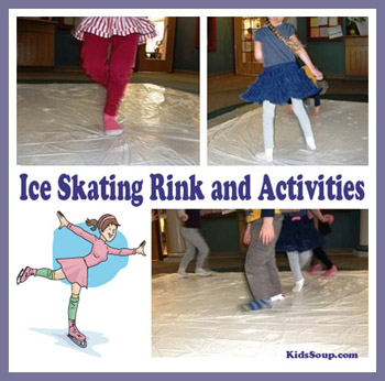 Preschool Winter Ice Rink Activity and Play Area