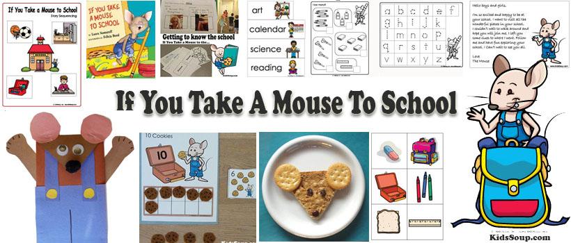 If mouse to school preschool and kindergarten activities and crafts