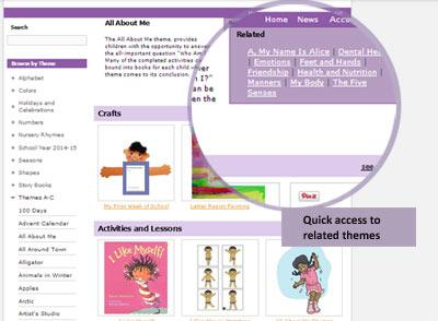 related preschool themes and activities