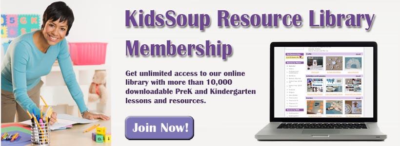 Kidssoup Resource Library preschool activities and crafts