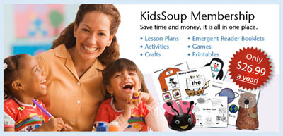 preschool and kindergarten activities KidsSoup Resource Library