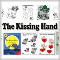 Preschool Kindergarten Kissing Hand Activities and Crafts