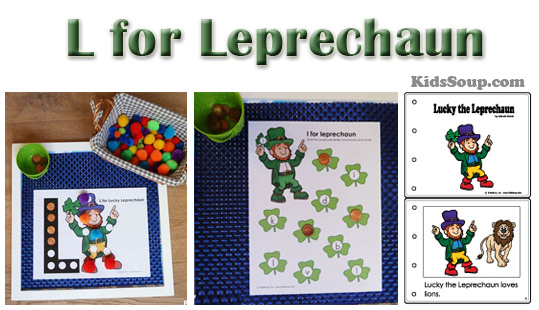 Preschool letter L for Leprechaun activities and craft