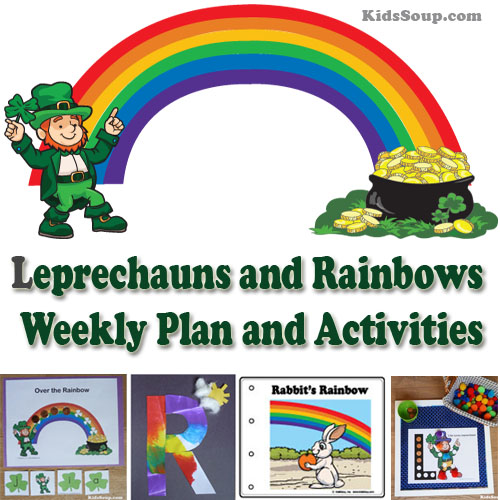 Rainbow And Leprechaun Activities And Crafts on Felt Stories And Rhymes