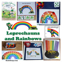 Leprechauns and Rainbow theme, activities, and crafts