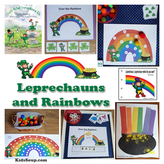 Preschool leprechaun and rainbows activities and crafts