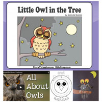 Preschool Kindergarten Little Owl Online Book and Activities