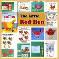 Preschool Kindergarten The Little Red Hen Activities and Crafts
