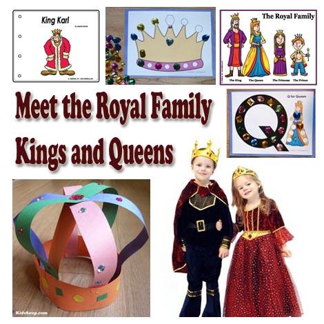 Kings and Queens preschool crafts, activities, and games