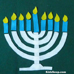 Hanukkah Menorah candle activity
