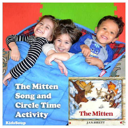 The Mitten Preschool circle game and activity