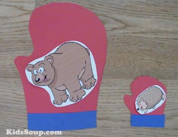 Mitten measurement and oral language activity for preschool
