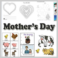 Preschool, Kindergarten Mother's Day Activities and Crafts