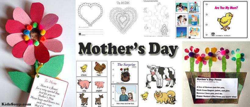 Mother's Day preschool and kindergarten activities and crafts