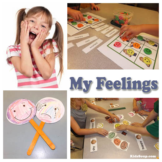 My Feelings activities and lesson for preschool and kindergarten