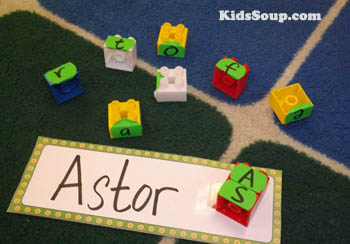 Building names activities for preschool and kindergarten