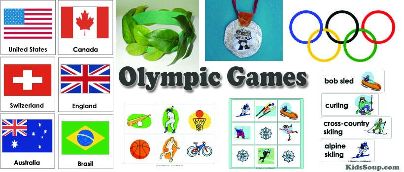 Preschool and kindergarten Olympic Games activities and crafts