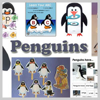 Preschool Kindergarten Penguins Activities and Crafts
