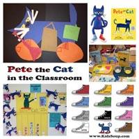 Preschool Kindergarten Pete the Cat Lesson and Activities