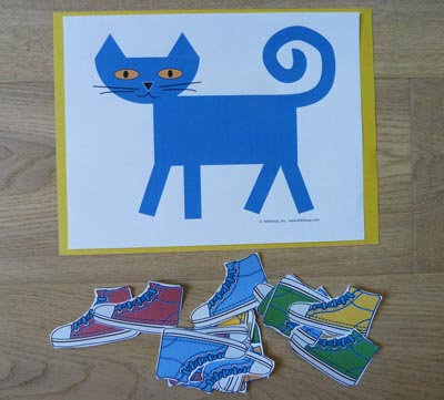 Pete the cat shoes activities kidssoup pete the cat has 4 shoes math play mat activity pronofoot35fo Choice Image