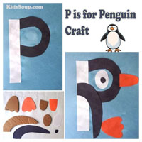 Preschool Kindergarten P for Penguin Craft and Activity