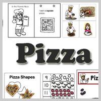 Preschool, Kindergarten Pizza Activities and Printables