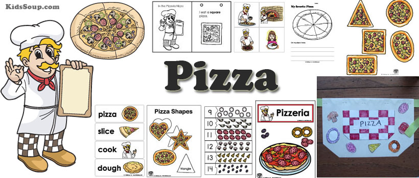 Pizza Activities, Crafts, and Games for kindergarten and preschool