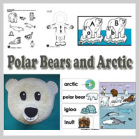 Preschool Kindergarten Polar Bear Activities and Crafts