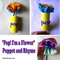 Preschool Kindergarten Flower Craft and Rhyme