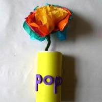 Pop I'm a flower rhyme and craft  for preschool
