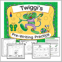 Preschool prewriting and tracing worksheets