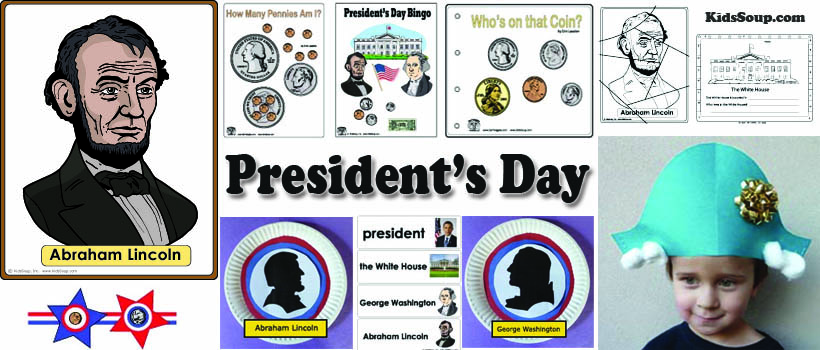 President's Day Activities, Crafts for preschool and kindergarten