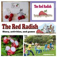 Preschool, Kindergarten, The Red Radish Book and Activities