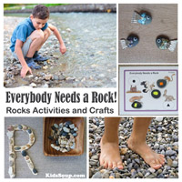 preschool and kindergarten Rocks Activities and Crafts