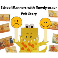 Preschool Kindergarten Dinosaur School Manners Activities