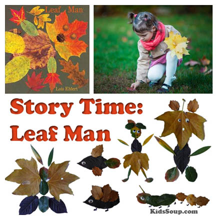 Story Time Leaf Man on Felt Stories And Rhymes