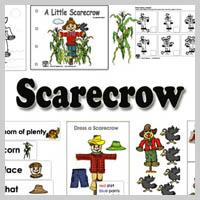 Preschool Kindergarten Scarecrow Activities and Crafts