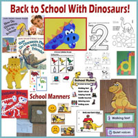 Back to School with Dinosaur activities for preschool and kindergarten