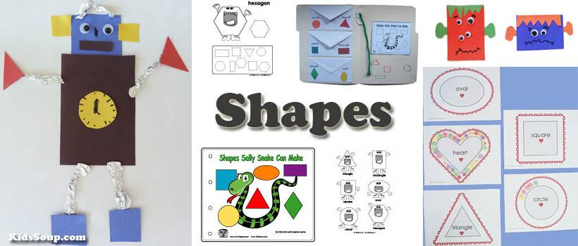 Preschool and Kindergarten Shapes Activities, Lessons, Crafts