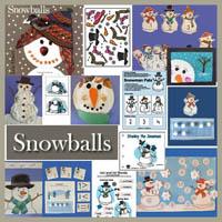 Snowballs literacy activities and lesson for preschool and kindergarten