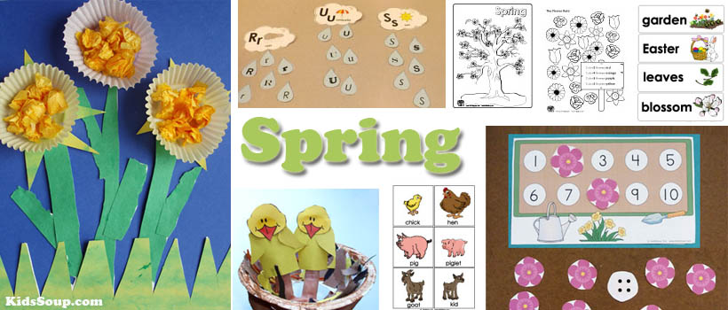 Spring Activities Crafts And Lessons Kidssoup