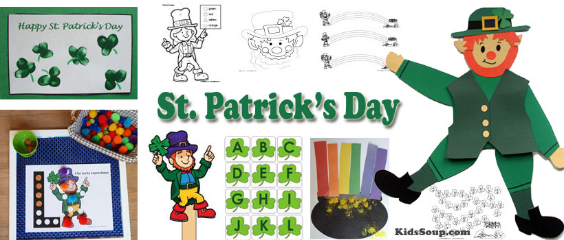 Preschool and Kindergarten St. Patrick's Day Activities and Crafts