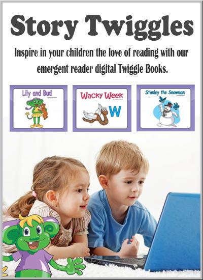 Digital online ebooks for preschool and kindergarten Story Twiggles Library